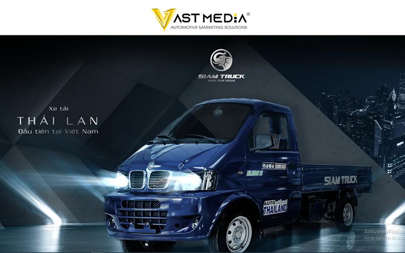 Vast media xây dựng landing page cho thương hiệu xe tải Thái Lan SIAM Truck