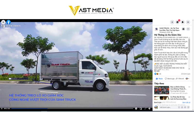 Vast Media xây dựng content cho thương hiệu SIAM Truck